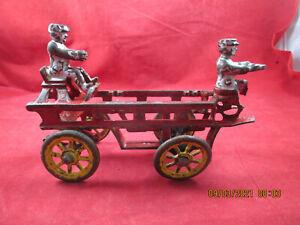 "Antique Cast Iron Toy KENTON HUBLEY ARCADE Fire Wagon Parts/Repair 7"""