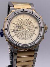 Vintage Orologio TISSOT NAVIGATOR GMT cassa bracciale acciaio oro garanzia NUOVO