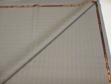 3.5 metres Grey/Brown Striped Super 130's Worsted & Cashmere Suiting Fabric