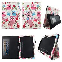 Whit Owl But Fit for Samsung Galaxy Tab 4 10.1 10 inch Tablet Case Cover ID Slot