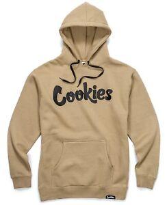 NWT Authentic Berner Cookies Clothing CKS Original Logo Tan/Black Hoodie