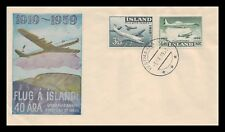 Iceland 1959 FDC, Air Mail. With Special Insert. Lot # 11.