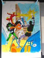 Fantastic 4 #279? Splash? She Hulk Doom John Byrne Original Hand Colored Art Wow