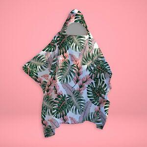 Tropical Leaves - SNUGAROO Hooded Fleece Poncho