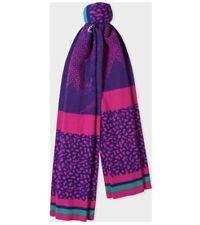 Paul Smith Wool Scarf Dino In Pink & Purple Violet, Unisex, RRP £155 - BNWT