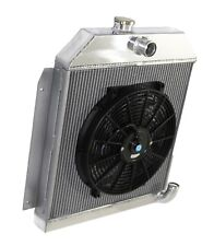 """fit 49-52 Plymouth Chrysler Coupe Sedan 6CYL 3 Row Performance RADIATOR+14""""Fan"""