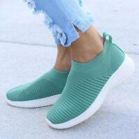 Zapatos De Verano Para Mujer Zapatillas De Calcetines De Punto Mocasines Casual