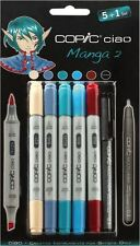 COPIC CIAO PENS - 5 + 1 MANGA SET 2 - GRAPHIC ART MARKERS PENS + FINELINER