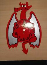 Red Dragon Clock Authentic Handmade Hand Painted Friendly Dragon Clock
