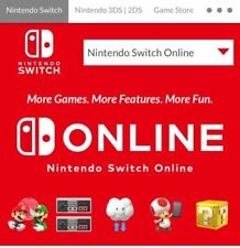 Nintendo Switch Online 12 Month Membership (expiry date : 01 Dec 2021)