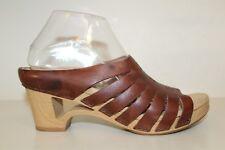 Dansko Womens Tilly Wedge Heel Mule Shoe Sz 9.5-10 / 40 Slip On Strappy Cut Out
