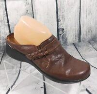 Easy Spirit Womens Brown Sandal Clog Mules Comfortable Light Weight Shoe Sz 8.5