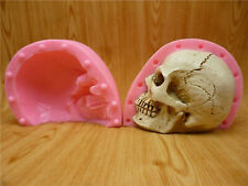 3D Skull Head Silicone Mold Chocolate Fondant Cake Gypsum Candle Soap Resin Tool