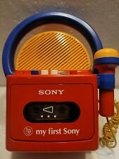 Vintage Sony Tcm-4300 My First Sony Cassette Recorder Player Tested Mic works