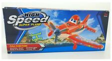 high speed super plane Light & Sound Bump & Go Toy Planes Aeroplanes Orange NEW
