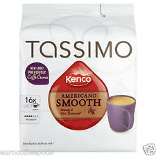 Tassimo Kenco Americano Smooth Coffee T-Discs Pods Capsule 5 Packs, 80 drinks
