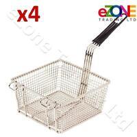 4X Chrome Chip Fryer Basket Serving Food Bar Restaurant Chips Basket