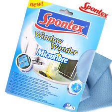 SPONTEX Window Wonder Microfibre Cloth cleaning glass mirror TV screen no smudge