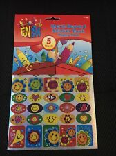 5 Sheets Happy Merit Stickers Merit  Great For Teachers Gift