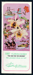 CRYPTOCLEARANCE, BET TWICE IN 1987 FLORIDA DERBY HORSE RACING PROGRAM!
