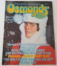 OSMONDS' WORLD MAGAZINE - No 39  January 1077