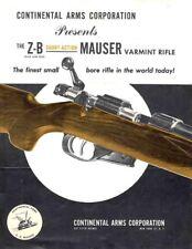Mauser 1953 Z-B Varmint Flyer Continental Arms