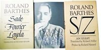 3 Books Roland Barthes by R.B, Sade Fourier Loyola, S/Z  1st American Editions