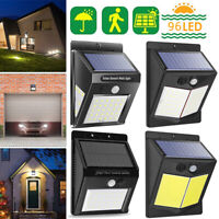 96LED Solar Wall Way Lamp Light PIR Motion Sensor Waterproof Garden Outdoor Yard
