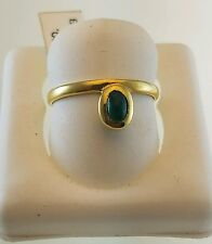 18KT YELLOW GOLD RING WITH COLOMBIAN MUZO EMERALD CABOCHON