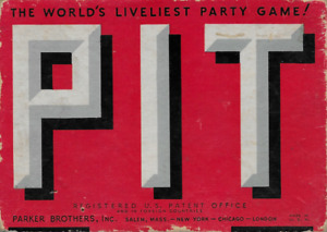 Vintage PIT World's Liveliest Party Game Parker Brothers 1919
