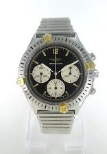 BREITLING STAINLESS BULLET BAND CHRONO AUTOMATIC BLACK DIAL CALLISTO 014585802