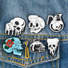 Shirt Bag Accessories Enamel Brooch Gothic Lapel Pin Punk Badges Pizza Skeleton