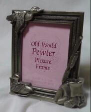 """Old World Pewter Picture Frame Ducks Hunting 2-1/4"""" x 3-1/4"""""""