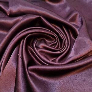 "Deep Plum / Wine Crepe Back Satin Dress Drape Craft Fabric 44"" By The Meter ST"