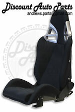 Porsche 997 Style GT3 Reclining Seats in Black cloth w/ CARBON FIBER Backing