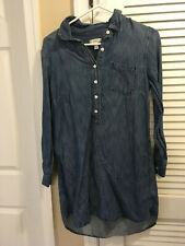 JCrew Long Sleeve Denim Shirt Dress Size 6