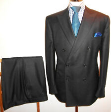 GIEVES HAWKES Suit SAVILE ROW LONDON 46 Navy Blue Jacket Trouser Waist 42 Leg 30