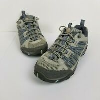 Merrell Trail Yokota Vent Ice Dream Women's Blue Gray Leather Hiking Shoes Sz 8