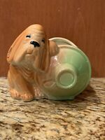 Vintage Shawnee Dog and Jug Planter USA 610 Fair Condition