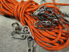 U.S. Seller 3Pcs  EDC Snap Carabiner Clip Snap Hook Split Spring Keychain Silver
