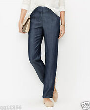 NWT WOMEN ANN TAYLOR Chambray Relaxed Ankle Pants Rinse Wash SIZE 2 372281