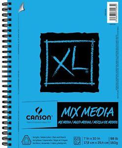 7 X10Spiral Sketch Book 60 Sheet Mix Media Sketchbook Pad Student Art Supplies