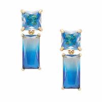 Kate Spade Shine On Blue Ombre Earrings NWT Minimal Geometric Design Modern Chic
