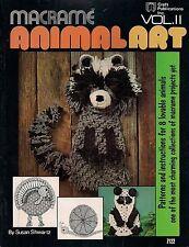 Craft Book: #7122 Macrame Animal Art Vol. Ii - Patterns & Instructions