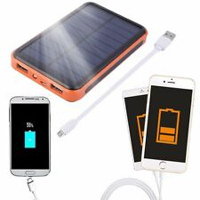 Waterproof Solar Power Bank 100000mAh Portable External Battery Charger Orange