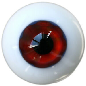 [wamami] 12mm Red & Black Pupil For BJD Doll Dollfie Glass Eyes Outfit