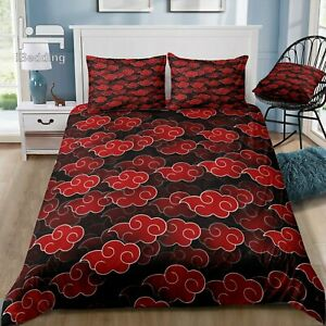 Red Luxury Bedding Set Duvet Cover with Pillowcase Bed Set Twin Full Queen King