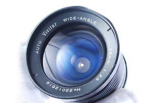 Auto Vivitar (Kiron) Wide Angle 28mm F2.5 M42 Screw Mount Manual Focus Lens