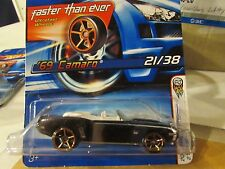 Hot Wheels '69 Camaro #021 2006 First Editions Black Faster Than Ever