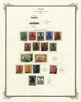 Saar 1920s to 1950s Clean Early Vintage Stamp Collection